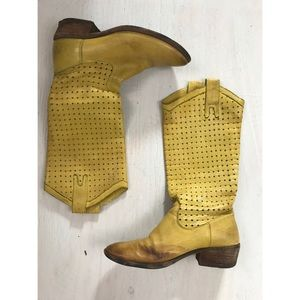 Vintage Frye Boots Mustard Yellow